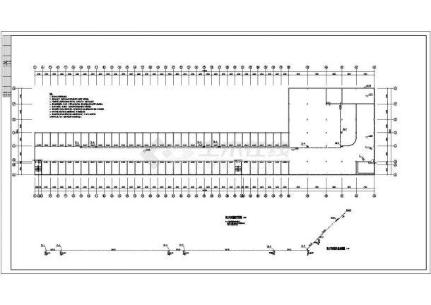 现代城伯乐苑地下车库给排水消防设计图-图一