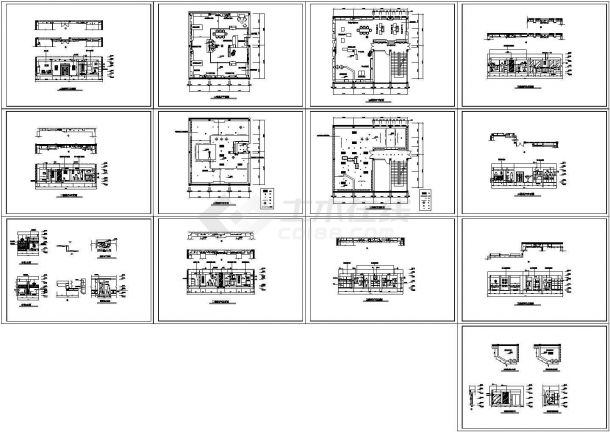 一套展示厅室内设计装修设计施工图-图二