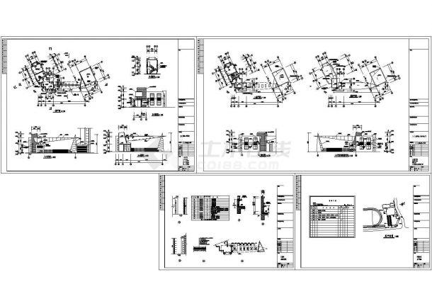 长20.161米 宽7.4米 实验小学大门建筑施工图-图一