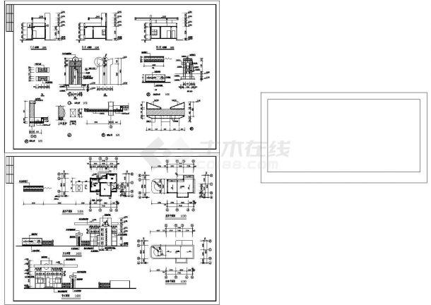 长25.74米 宽6.24米 值班室 大门建筑施工图-图一