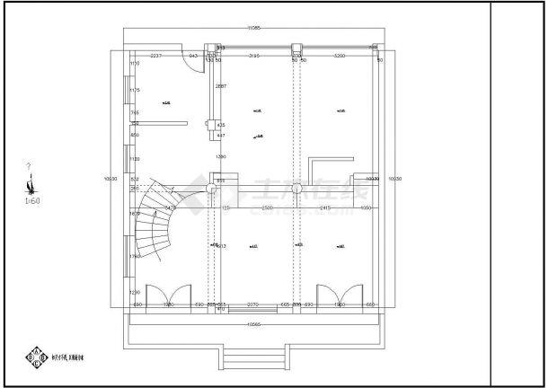 一套大型实用的别墅室内装修图纸(全套)-图一