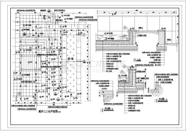 某地政府大楼前广场园林绿化设计图(共计5张)-图二