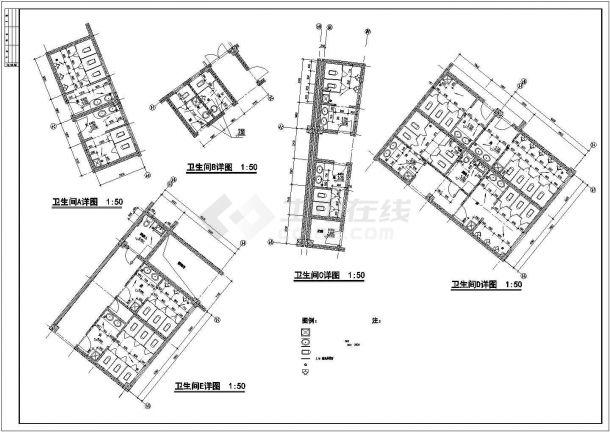 楼梯卫生间全图设计的CAD绘图设计-图二