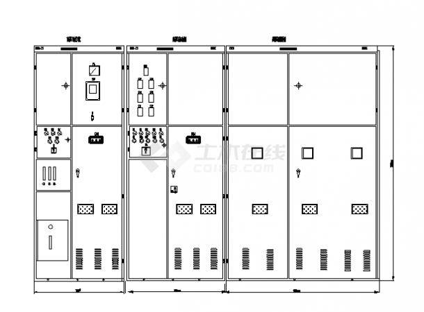 某高压软器柜电气控制原理图(标注详细)-图一