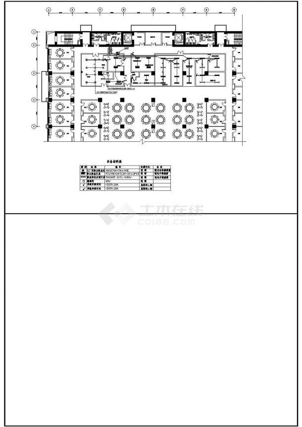 酒店厨房全套电气设计施工CAD图-图一