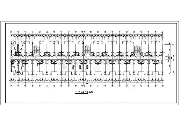 住宅公寓楼电气设计施工CAD图纸某-图一
