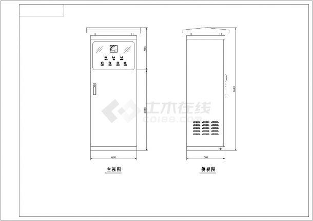 某地区水电站弧门配电盘原理设计cad施工图-图一