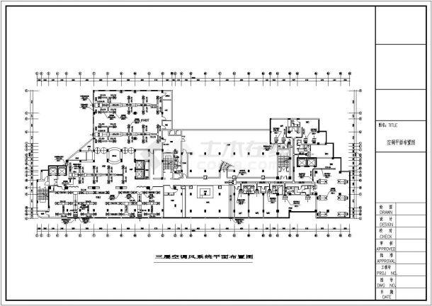 某地办公楼暖通空调设计方案cad图-图二