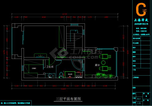 某地区一套精美中式别墅装修设计图(及效果图)-图二