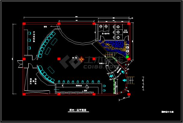 某地一套比较详细的酒吧装修设计图-图二
