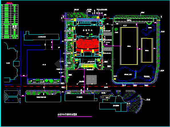 某地小型会议中心平面园林绿化及施工图-图二