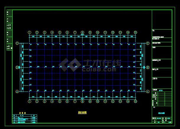 某地区建筑钢结构工程设计CAD图纸-图二