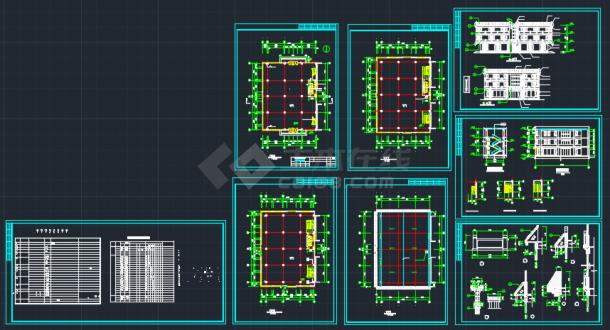 西安古建营业厅建筑CAD设计施工图-图一