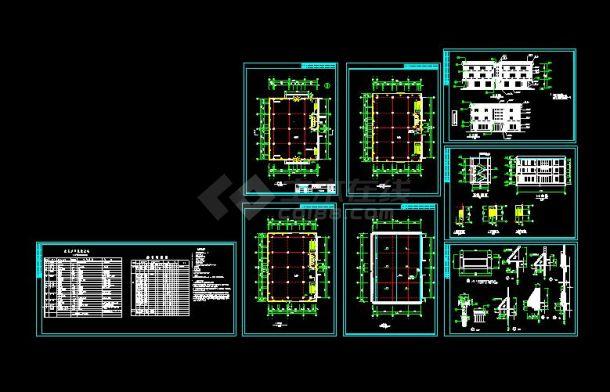 某地大型仿古建营业厅建筑设计图(含设计说明)-图一