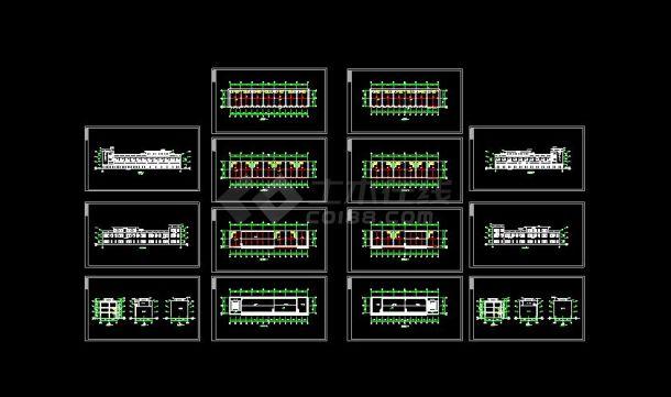 某地大型徽派居住建筑设计图(共14张)-图一