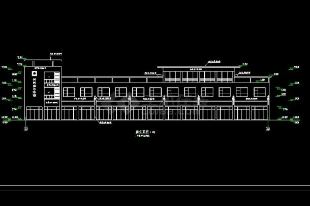 某地大型徽派居住建筑设计图(共14张)-图二