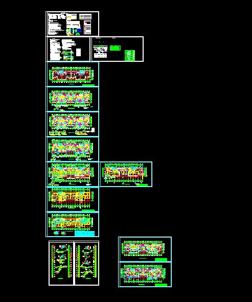 【整合】11套住宅楼采暖设计图纸-图一