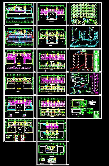 办公楼溴化锂空调cad详细施工方案平面图纸-图一
