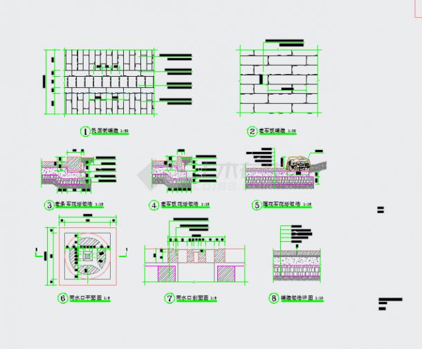 鹤城防城古街复原景观工程设计图纸-图二