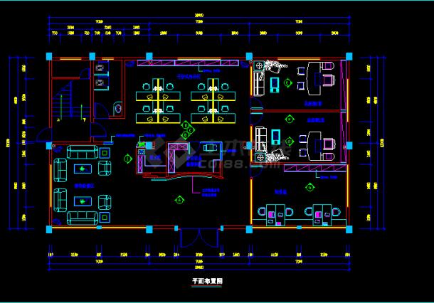 [南方]某责任有限公司室内装修cad平立面施工设计图纸-图二