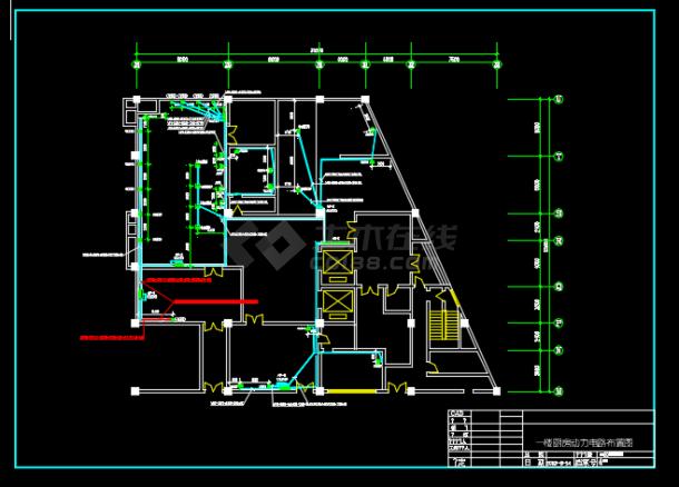 某地区某宾馆厨房电气设计CAD施工图纸-图一