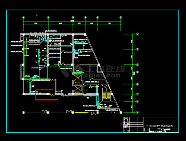 某地区某宾馆厨房电气设计CAD施工图纸-图二