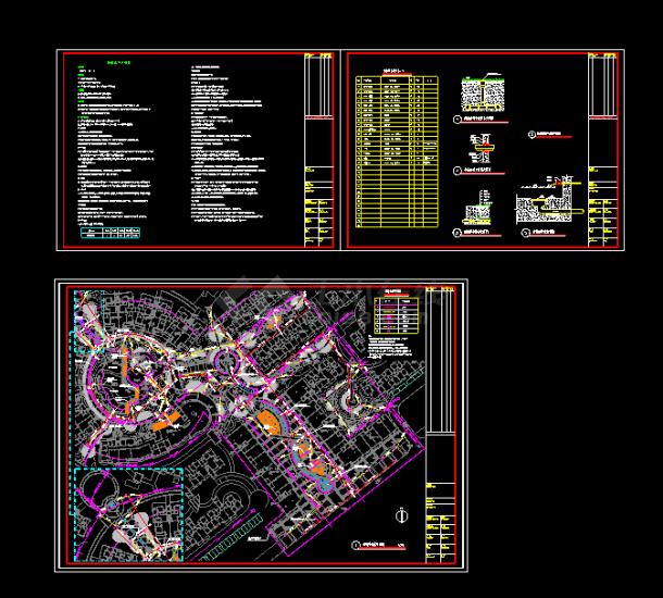 某地景观给排水CAD设计平面图纸-图一