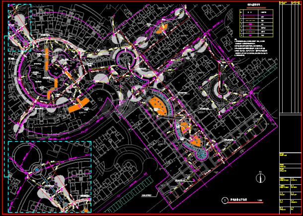 某地景观给排水CAD设计平面图纸-图二
