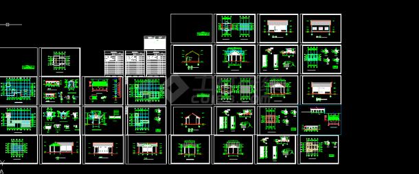 古建筑施工设计方案全套CAD图纸-图一