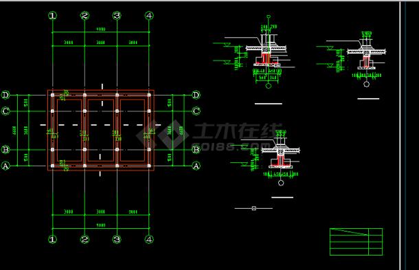 古建筑施工设计方案全套CAD图纸-图二