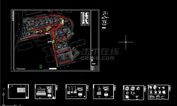 某小区景观照明电气设计全套CAD图纸-图一