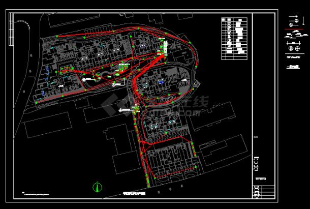 某小区景观照明电气设计全套CAD图纸-图二
