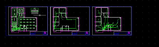 建筑电气供配电系统_【cad图】办公室照明插座网线设计全套CAD图纸_土木在线