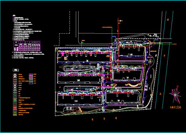 某大型小区管线综合平面cad设计图-图一