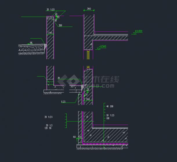 多种建筑节点CAD设计施工详图汇总-图二