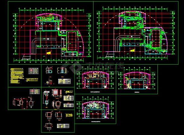 某住宅地下室中央空调全套cad设计施工方案图纸-图一