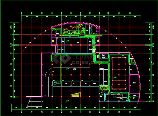 某住宅地下室中央空调全套cad设计施工方案图纸-图二