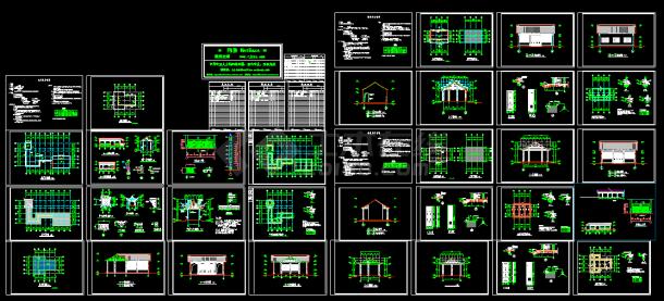 某古建筑施工CAD设计平面图纸-图一