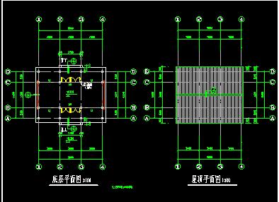 某古建筑施工CAD设计平面图纸-图二