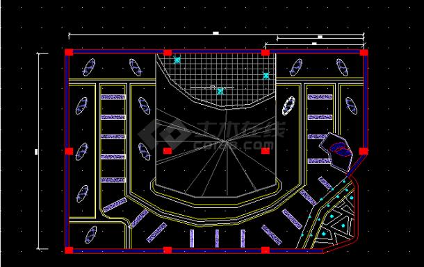 某大型酒吧装修设计方案全套CAD图纸-图二