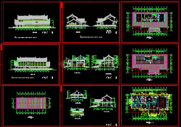 某太湖古建筑施工设计CAD平立剖图纸-图一