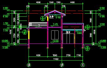 某地一套古建筑施工设计CAD图纸1-图二