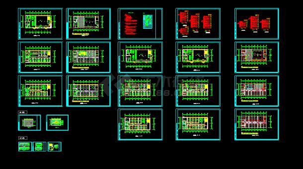某综合楼建筑电气施工施工CAD方案图-图一