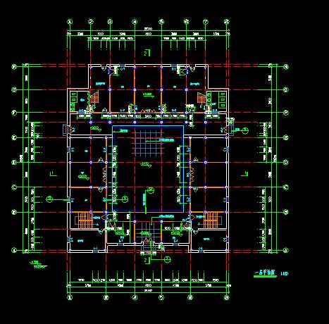 某地仿古建筑施工设计CAD详细图纸-图二