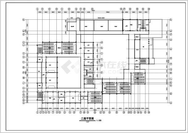 某地中学教学楼建筑方案设计图纸-图一图片