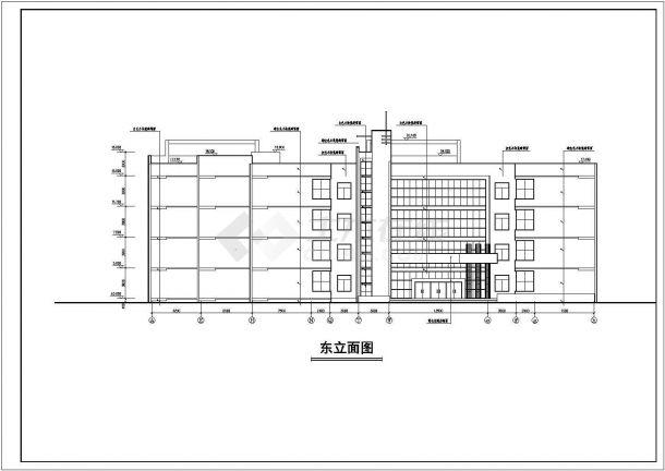 某地中学教学楼建筑方案设计图纸-图二图片