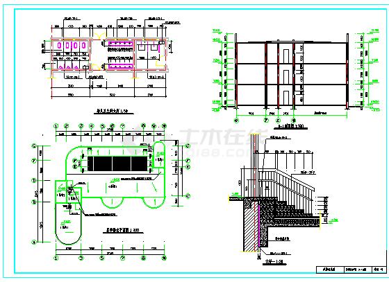 2018最新整理50套各式风格特点幼儿园建筑设计施工图-图二
