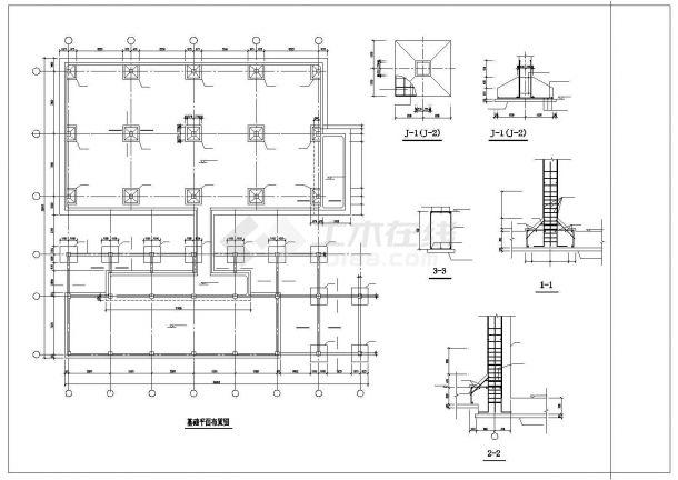 某垃圾电厂循环水泵房结构图纸-图二