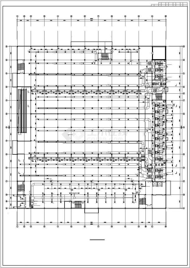 大型超市建筑空调通风系统设计施工图(直燃型溴化锂)-图二