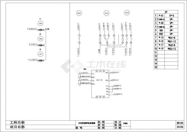 某地压滤机车间电气控制原理图-图二